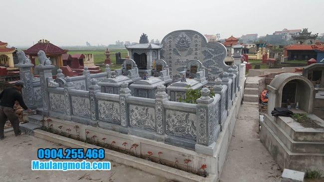 mẫu khu lăng mộ đá tại Bắc Giang đẹp