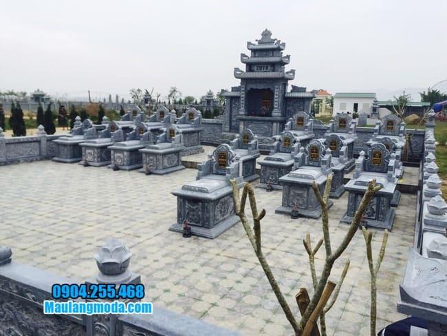 mẫu khu lăng mộ bằng đá đẹp nhất tại Bắc Giang