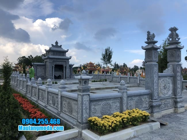 mẫu lăng mộ đá đẹp tại Bắc Giang