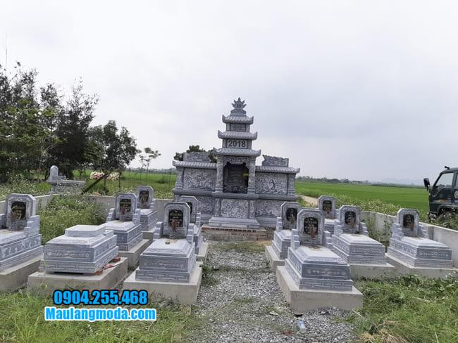 mẫu lăng mộ đá tại Bắc Giang