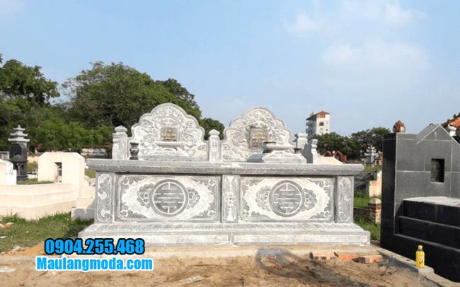 mẫu mộ đôi bằng đá đẹp tại Bắc Ninh