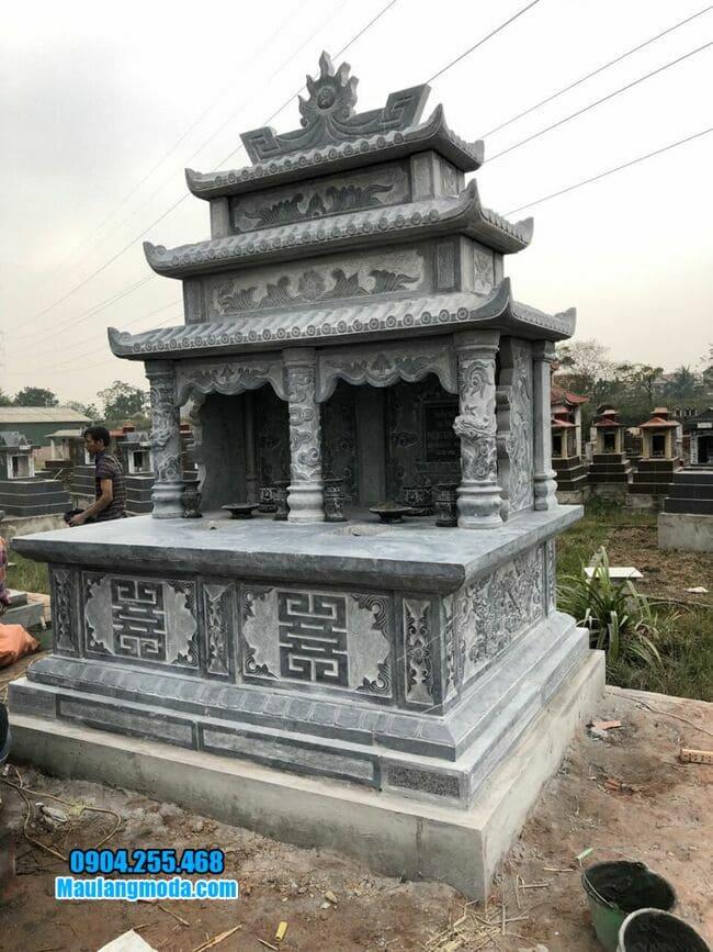 mộ đá đôi đẹp tại Bắc Ninh