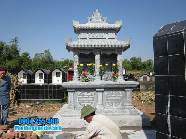 mộ đôi đá mỹ nghệ tại Bắc Ninh đẹp