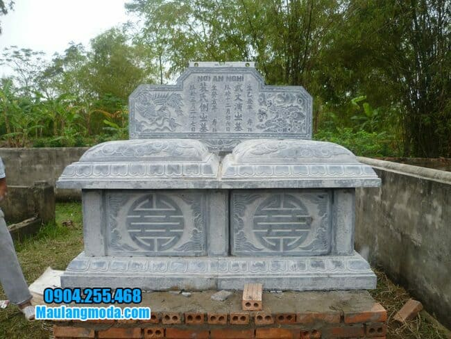 mộ đôi bằng đá tại Bắc Ninh đẹp