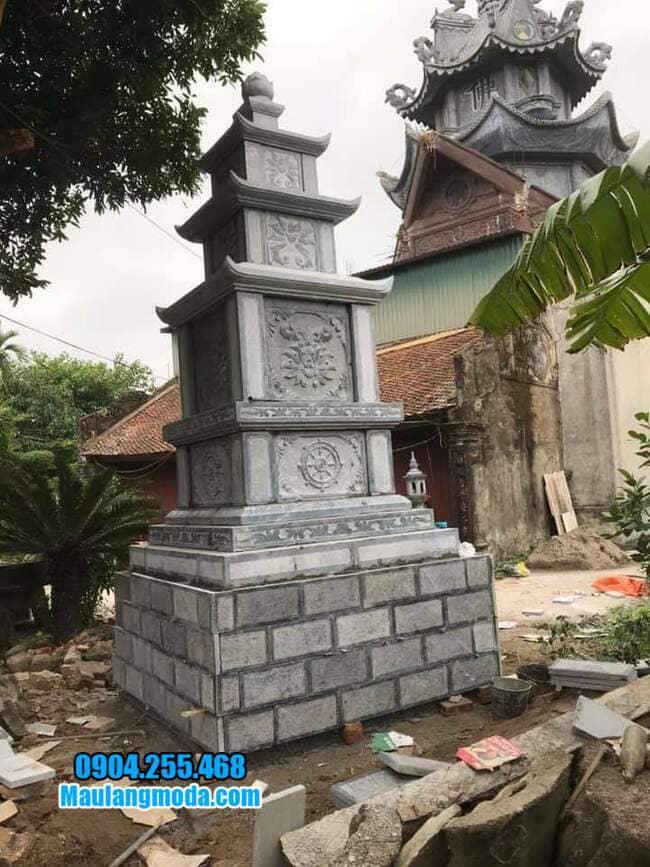mộ tháp bằng đá tại Bình Phước đẹp