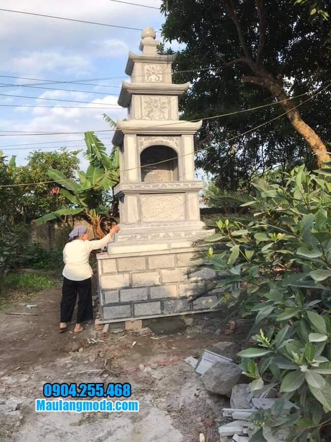 Xây tháp mộ đá tại Quy Nhơn