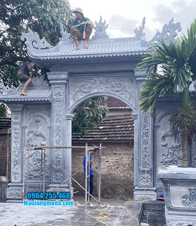 cổng đá nhà thờ họ tại Bắc Giang