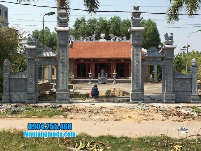 cổng đá nhà thờ họ tại Lạng Sơn