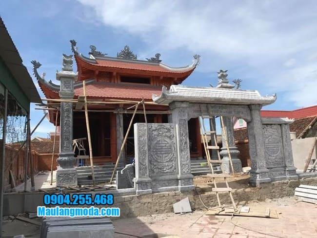 cổng nhà thờ họ bằng đá đẹp tại Bắc Giang