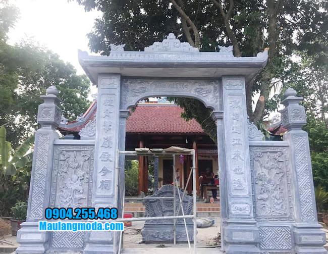 cổng nhà thờ họ bằng đá đẹp tại Lạng Sơn