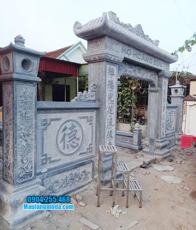 cổng nhà thờ họ bằng đá tại Bắc Giang