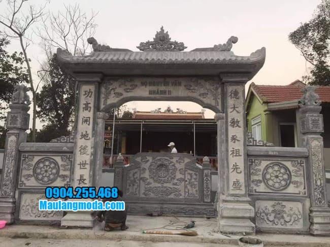 cổng tam quan đá đẹp nhất tại Phú Thọ