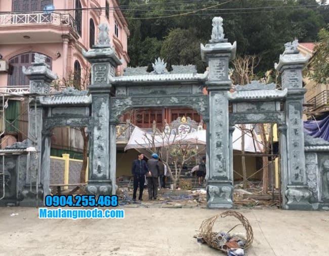 cổng tam quan bằng đá đẹp tại Hòa Bình