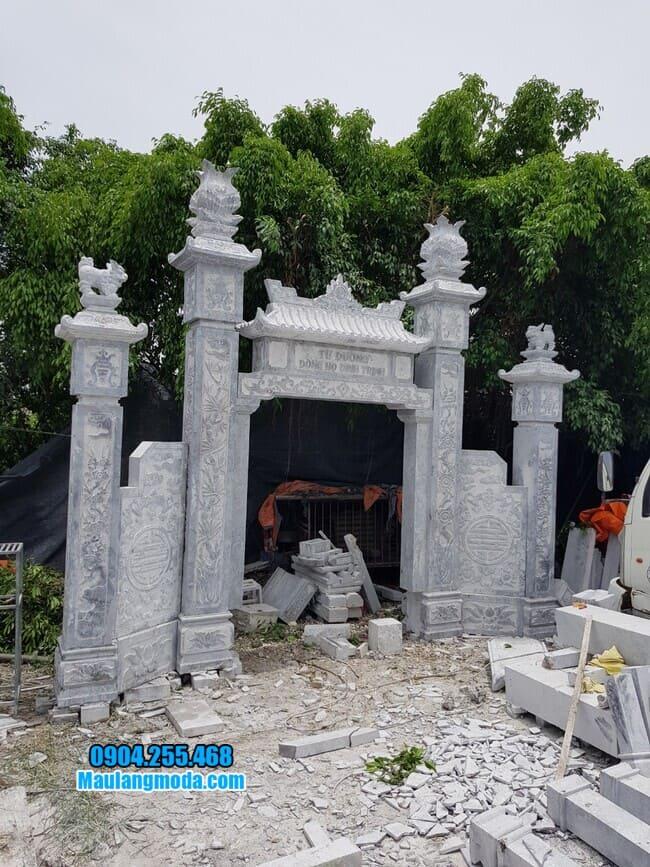 mẫu cổng đá nhà thờ họ đẹp nhất tại Lạng Sơn