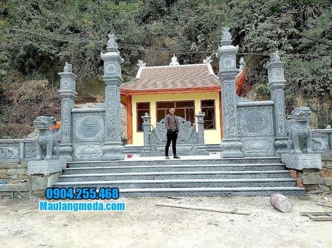 mẫu cổng đá nhà thờ họ đẹp nhất tại Tuyên Quang