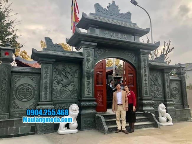 mẫu cổng đá nhà thờ họ đẹp tại Lạng Sơn