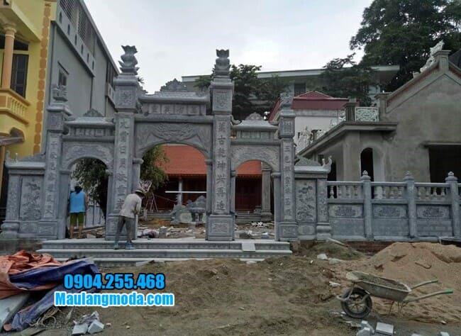 mẫu cổng đá nhà thờ họ tại Bắc Giang