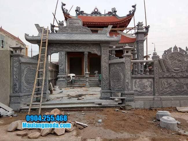 mẫu cổng đá nhà thờ họ tại Lạng Sơn