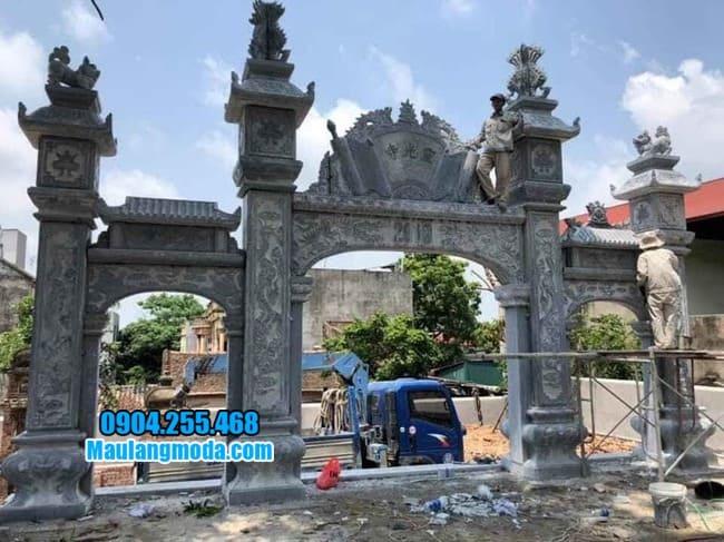 mẫu cổng tam quan đá đẹp tại Hòa Bình