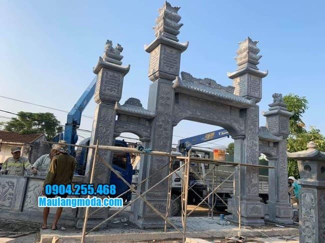 mẫu cổng tam quan đá tại Hòa Bình