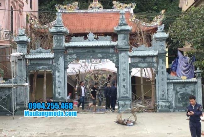 mẫu cổng tam quan bằng đá tại Hòa Bình