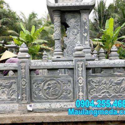 Hình ảnh hàng rào đá bao quanh khu lăng mộ tại Đồng Tháp