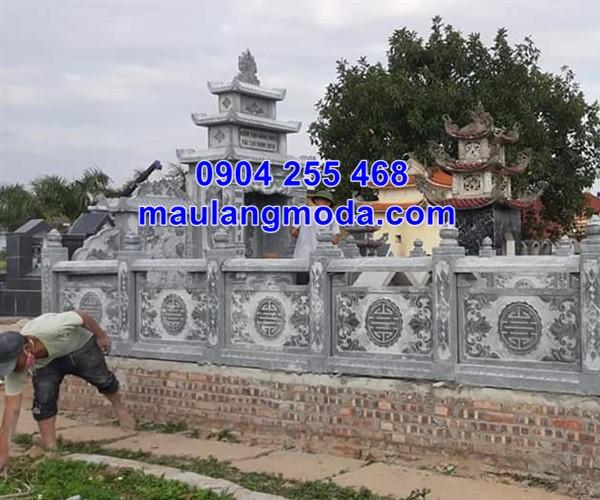 Lan can đá nhà mồ gia đình lắp đặt tại Kiên Giang đẹp chất lượng cao