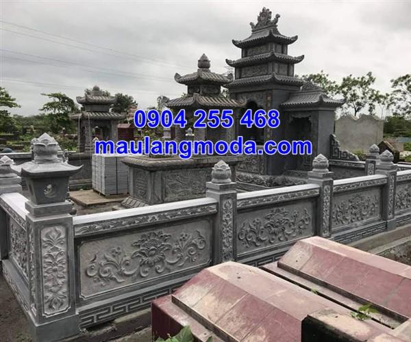 Lan can đá nhà mồ gia đình tại Kiên Giang đẹp