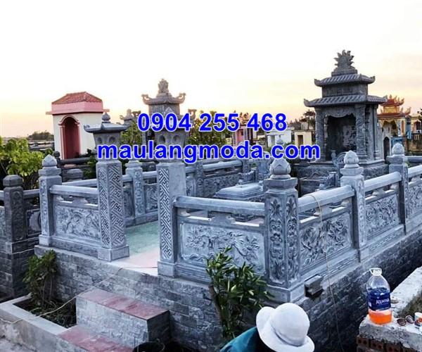 Lan can đá nhà mồ tại Kiên Giang đẹp