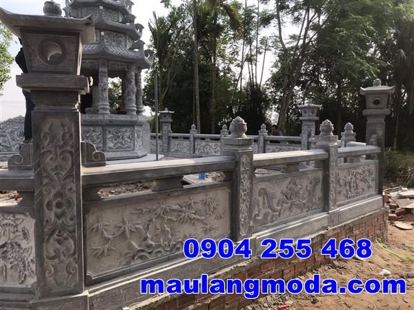 Lan can đá nhà mồ tại Kiên Giang