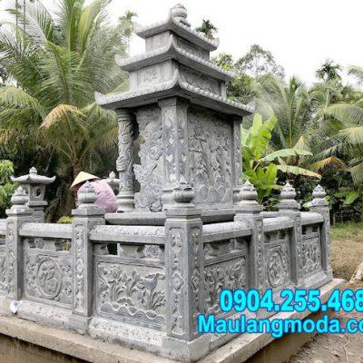 Mẫu tường bao bằng đá đẹp nhất cho khu nhà mồ tại Hậu Giang
