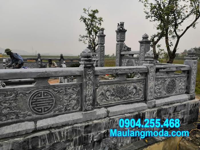 Tường rào đá nhà mồ tại Cà Mau - Mẫu hàng rào đá đẹp tại Cà Mau