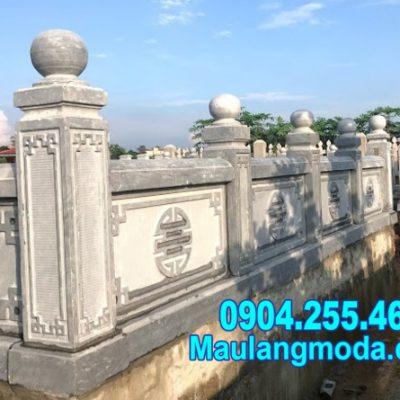 kiểu lan can đá bao quanh nhà mồ bán tại Bình Định đẹp nhất