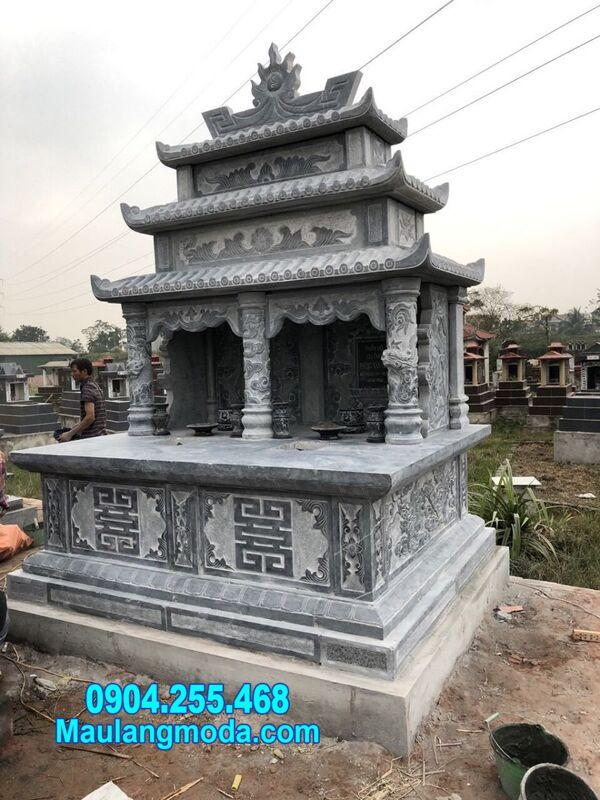 mộ đôi đá mỹ nghệ tại Quy Nhơn
