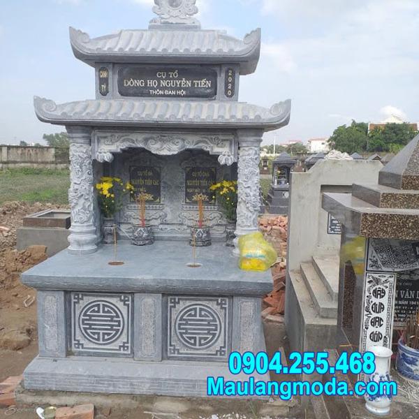 mộ đôi bằng đá xanh đẹp tại Quy Nhơn