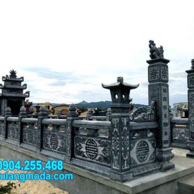 Mẫu nhà mồ đá tự nhiên chạm khắc đẹp chuẩn phong thủy tại Khánh Hòa