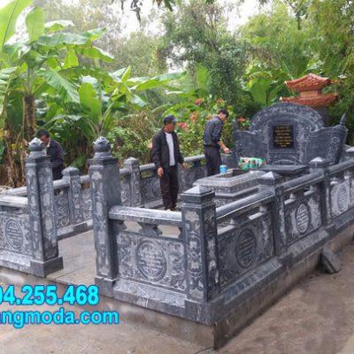 Mẫu nhà mồ đẹp nhất bằng đá tự nhiên lắp đặt tại Vũng Tàu