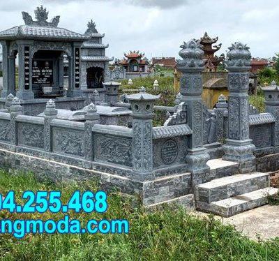 Những mẫu nhà mồ bằng đá đẹp được xây dựng tại Hậu Giang