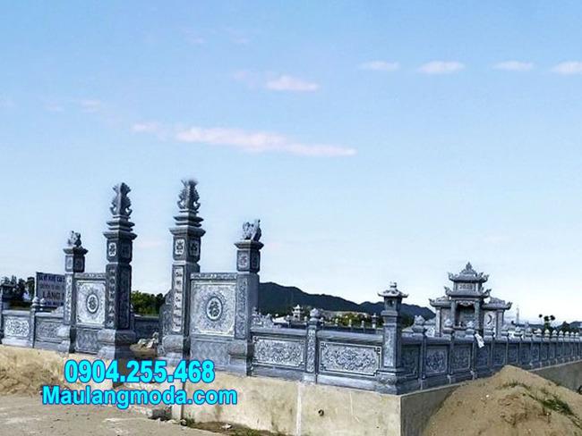 mẫu khu nhà mồ bằng đá tự nhiên lắp đặt tại Ninh Thuận