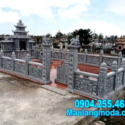 mẫu khu nhà mồ bằng đá thiết kế uy nghi đẹp tại Trà Vinh