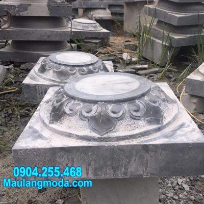 chân tảng đá kê cột nhà chạm khắc đẹp nhất bán tại Cà Mau