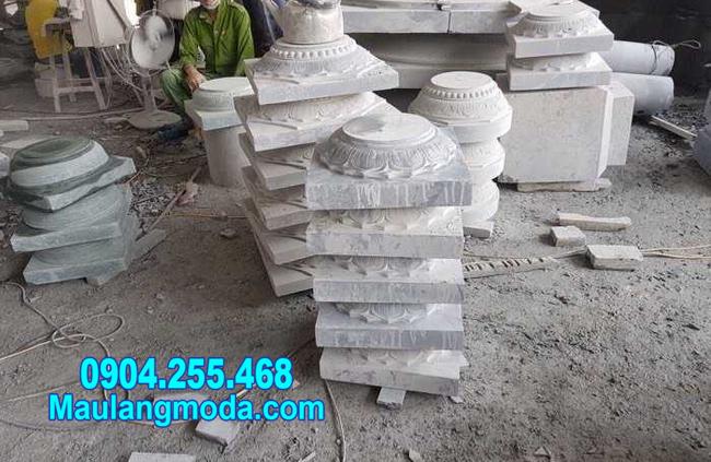 chân tảng đá kê cột nhà tại Cà Mau