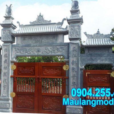 mẫu cổng tam quan chùa bằng đá tự nhiên đẹp nhất
